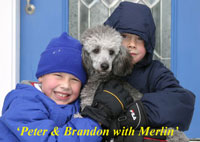 Peter &Brandon with Merlin